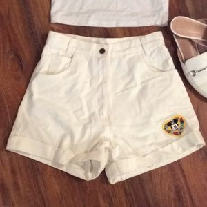 Vintage Mickey Mouse flower patch shorts